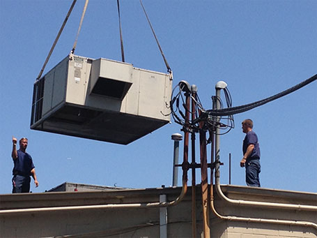 hvac rooftop installation project